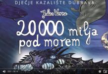 Do petka pogledajte predstavu 20000 milja pod morem prema romanu Julesa Verna